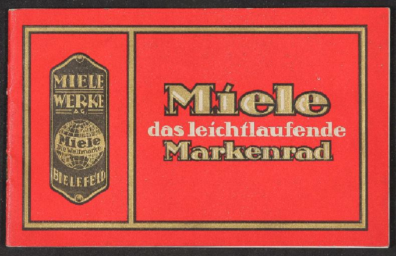 Miele Markenfahrrad Katalog 1924