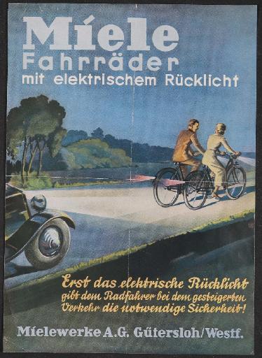 Miele Rücklicht Werbeblatt 1937