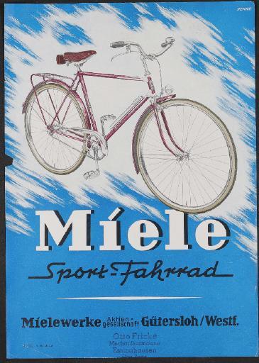 Miele Werbeblatt  1950