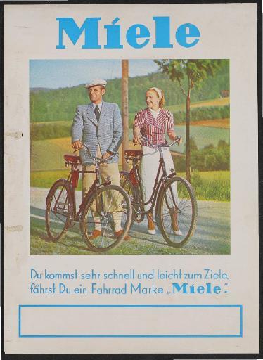 Miele Werbeblatt 1937