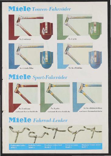 Miele Werbeblatt 1950er Jahre