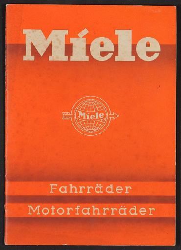 Miele, Katalog 1937
