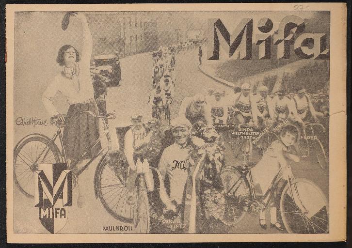 Mifa Das Qualitätsrad Prospekt 20er Jahre