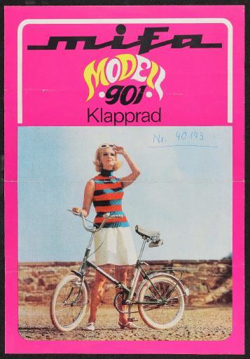 Mifa Modell 901 Klapprad Werbeblatt 1968