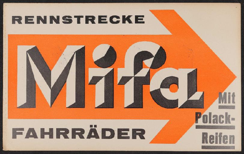 Mifa Schild 1930er Jahre