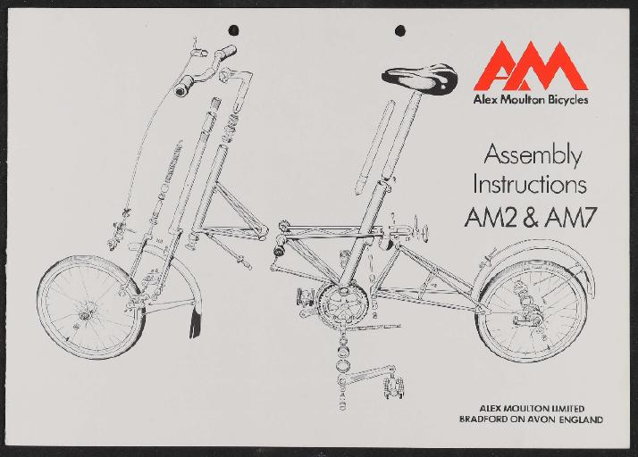 Moulton, Alex Moulton Bicycles (GB) Assembly Instructions und Certificate of Ownership 1980er Jahre