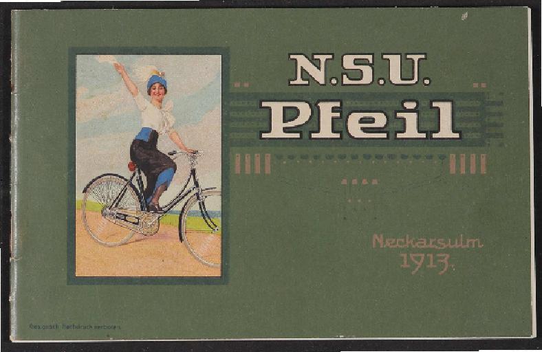 N.S.U. Pfeil Katalog 1913