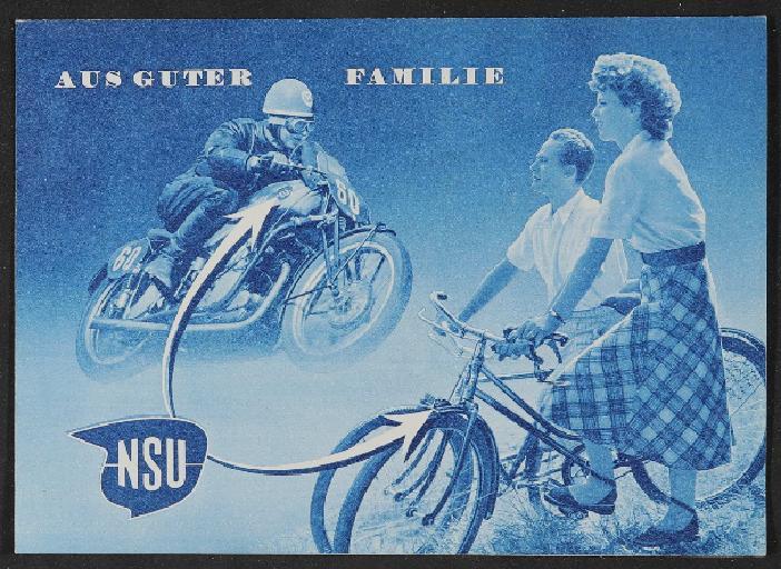 NSU Faltblatt 1950er Jahre