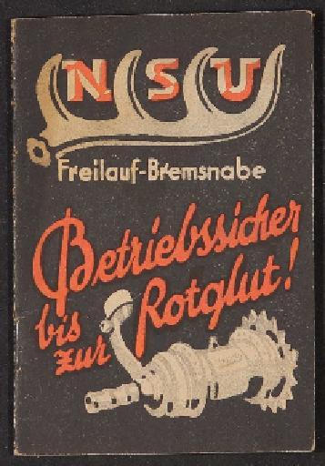 NSU Freilauf Bremsnabe Betriebsanleitung 1924