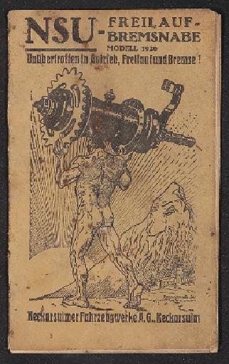 NSU Freilauf-Bremsnabe Betriebsanleitung 1920