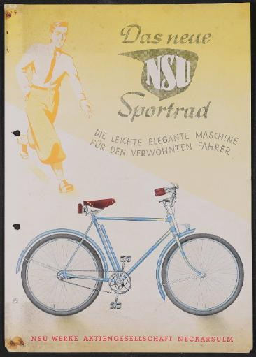 NSU Werbeblatt 1939