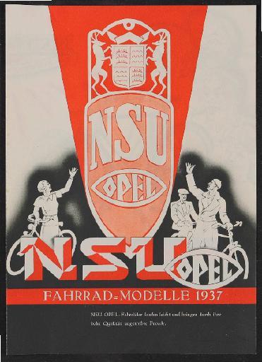 NSU-Opel Fahrräder Prospekt 1937