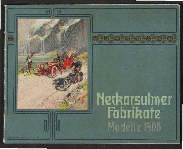 Neckarsulmer Fahrradwerke, Katalog 1908