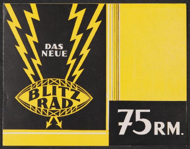 Opel BlitzradFaltblatt 1920er Jahre