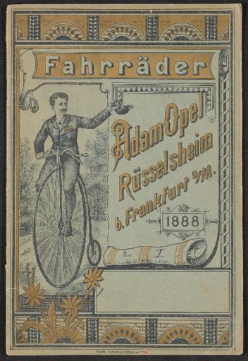 Opel Fahrräder Katalog 1888