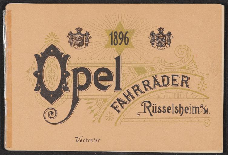 Opel Fahrräder Katalog 1896