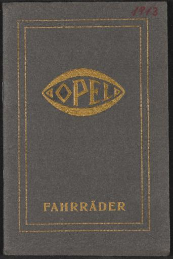 Opel Fahrräder Katalog 1913