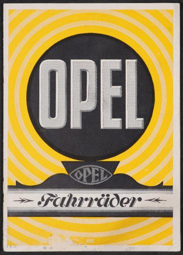 Opel Fahrräder Katalog 1927