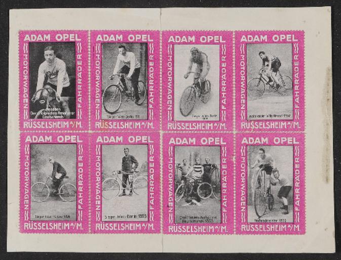 Opel Fahrräder Klebemarken 1920er Jahre