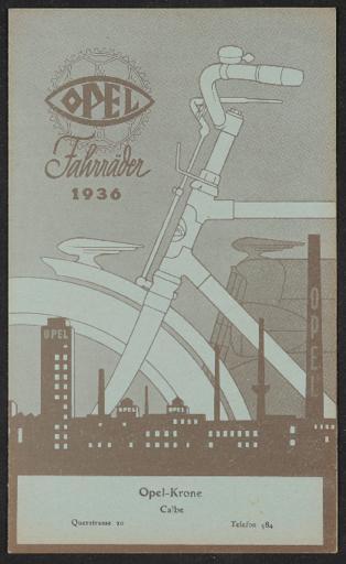Opel Fahrräder Oel-Krone Faltblatt 1936
