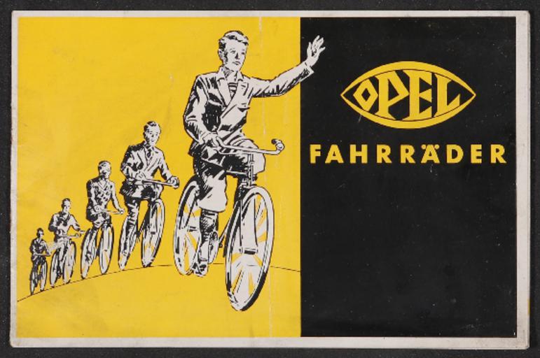 Opel Fahrräder Prospekt 1930er Jahre