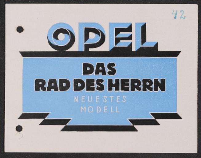Opel Faltblatt 1920er Jahre