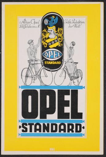 Opel Standard Faltblatt 1920er Jahre
