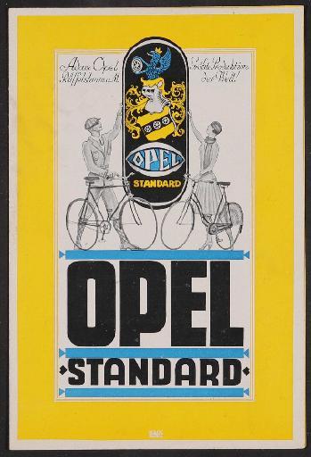 Opel, Prospekt 1920er Jahre