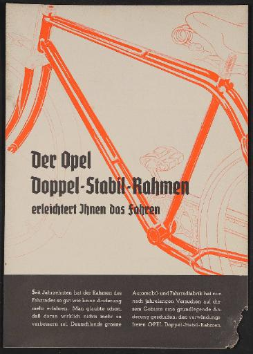 Opel, Werbeblatt 1930er Jahre