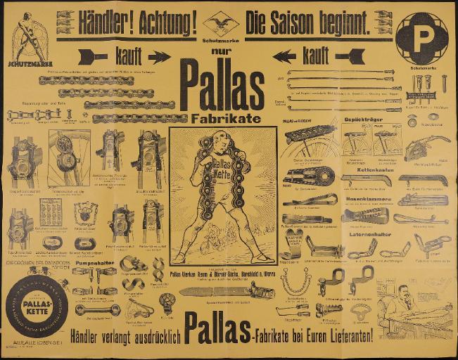 Pallas Kauft nur Pallas Fabrikate Plakat 1926