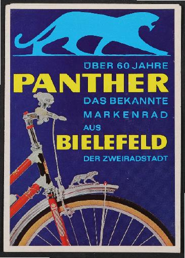 Panther Bielefeld, Faltblatt, 1964