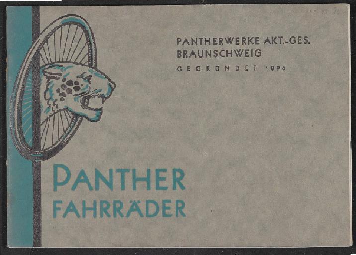 Panther Fahrräder Katalog 1930