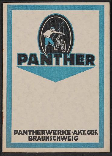 Panther Räder Katalog 1923
