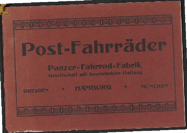 Panzer Fahrräder Modell Post Katalog 1910er Jahre