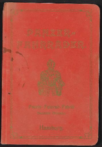 Panzer-Fahrräder, Katalog 1909