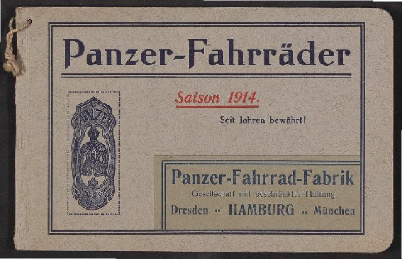 Panzer-Fahrräder, Katalog 1914