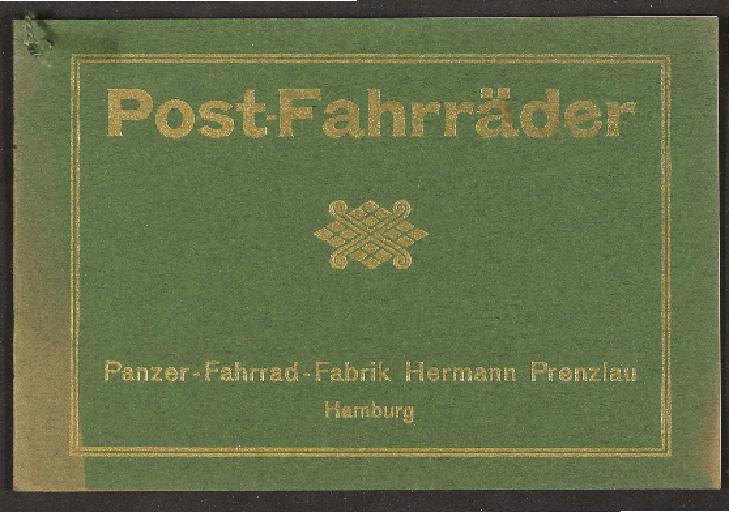 Panzer-Fahrrad-Fabrik, Post-Fahrräder, Katalog 1910er Jahre
