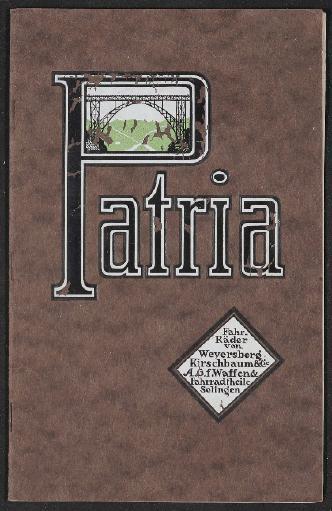 Patria Fahrräder Katalog 1921