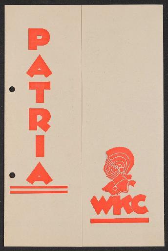 Patria WKC Faltblatt 1930er Jahre