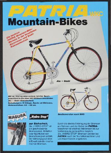 Patria WKC Werbeblatt 1980er Jahre