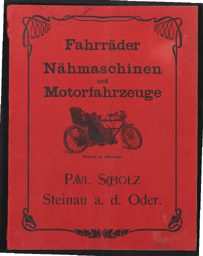 Paul Scholz Fahrräder Katalog 1906