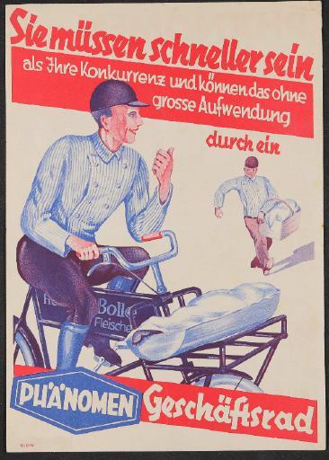 Phänomen Geschäftsrad Werbeblatt 1932