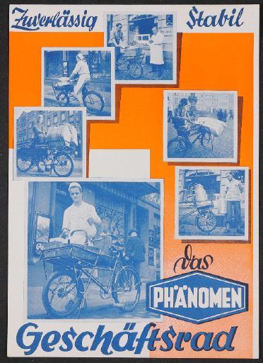 Phänomen Geschäftsrad Werbeblatt 1939