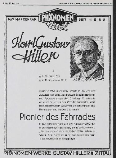 Phänomen Gründer Gustav Hiller RM Nr. 2341  1936