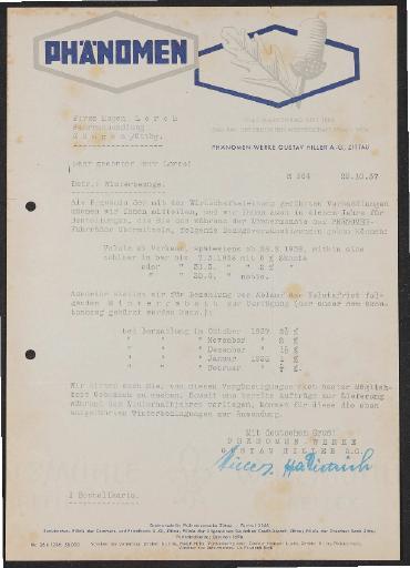 Phänomen Händlerschreiben 1937