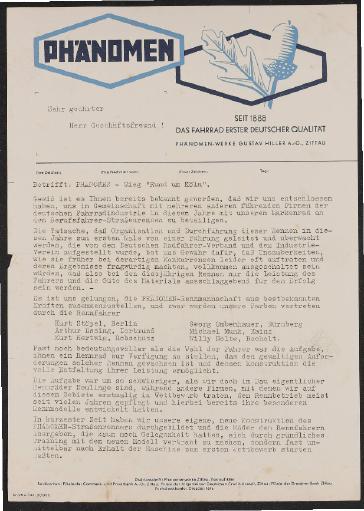 Phänomen Informationen für Händler 1934