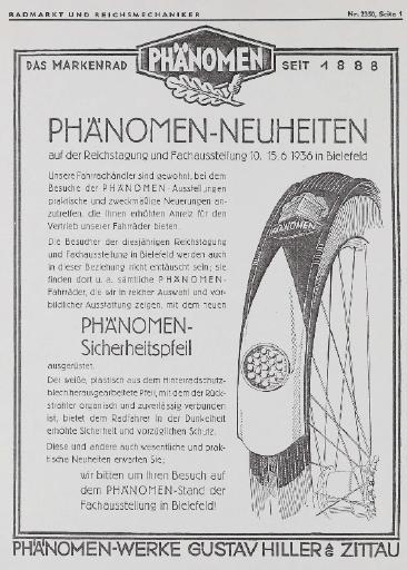 Phänomen Neuheiten RM Nr. 2350  1936