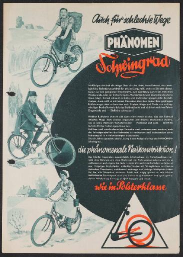 Phänomen Schwingrad Werbeblatt  1940