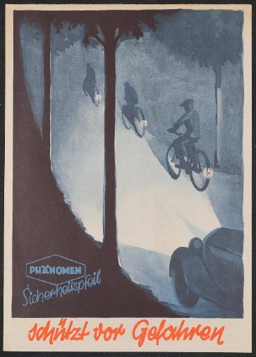 Phänomen Sicherheitspfeil Werbeblatt 1936