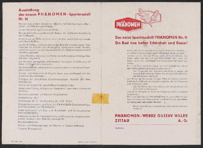 Phänomen Werbeblatt 1936